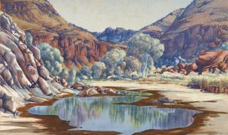 Palm Valley 1940s by Albert Namatjira Source