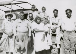 Albert Namatjira and his family 1952