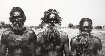 Three Arrarnta men